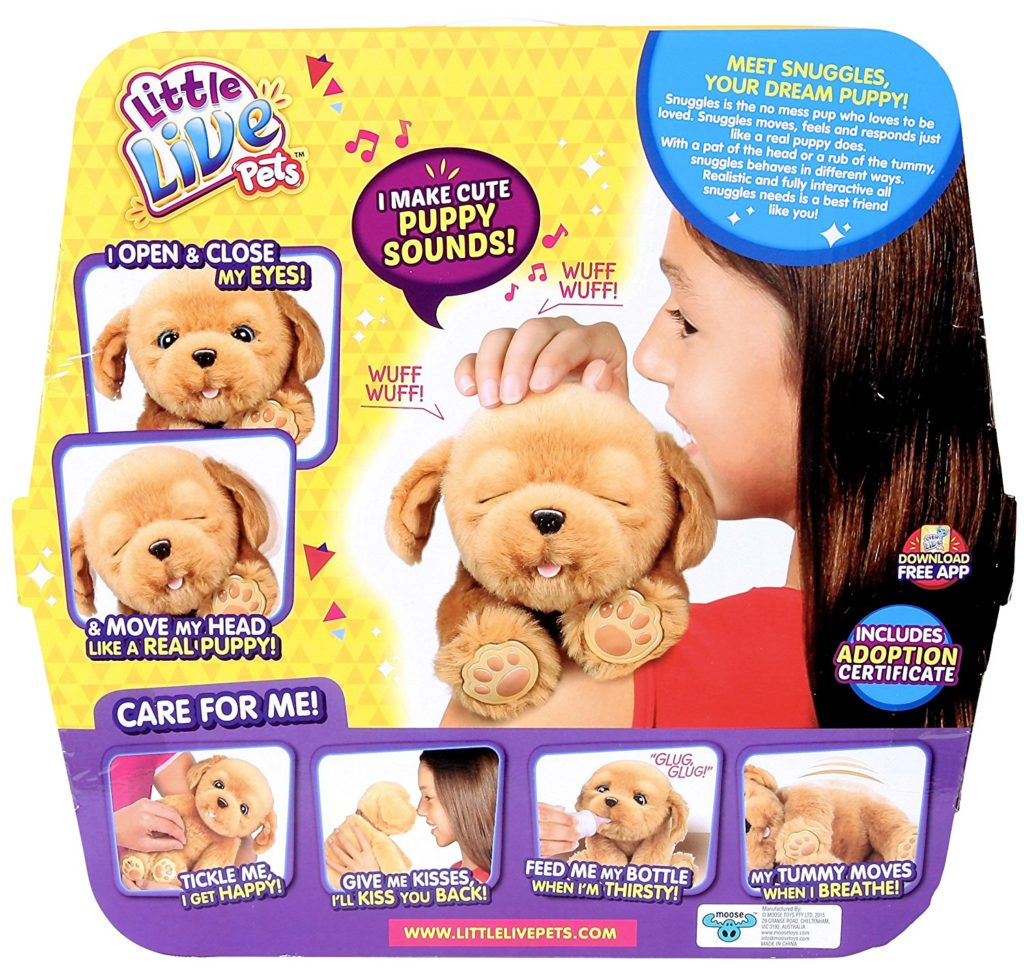 Little Live Pets Snuggles My Dream Puppy Playset box