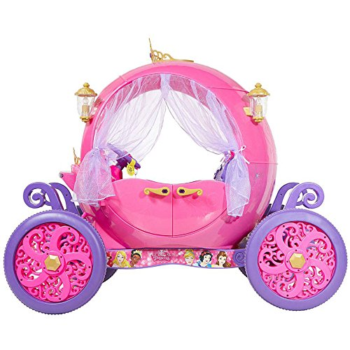 New Disney Princess Pink Carriage Electric Car