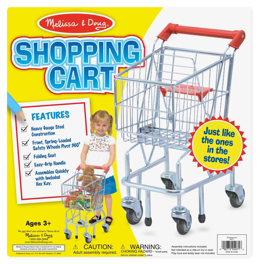 toy shopping cart from mellisa and doug
